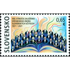 Známka - 100. výročie založenia Speváckeho zboru slovenských učiteľov
