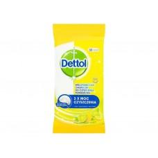 DETTOL Antibakteriálne obrúsky na povrchy, Citrón a Limetka 32 ks