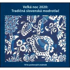 Známkový zošítok - Veľká noc 2020: Tradičná slovenská modrotlač