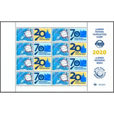 Známka s personalizovaným kupónom - 70. výročie POFIS