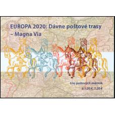 Známkový zošítok - EUROPA 2020: Dávne poštové trasy – Magna Via