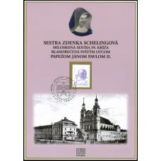 Pamätný list č. 10 - Sestra Zdenka Schelingová blahorečená Sv. Otcom pápežom Jánom Pavlom II.