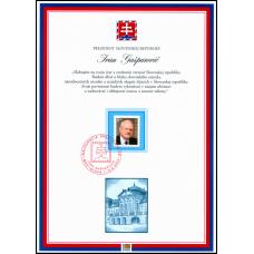 Pamätný list č. 12 - Prezident SR Ivan Gašparovič