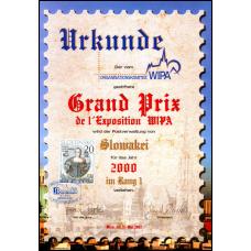 Pamätný list  č. 4 - Dejiny poštového práva - Grand Prix WIPA za rok 2000