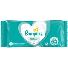 PAMPERS Sensitive detské vlhčené obrúsky 52 ks
