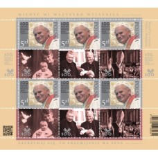 Hárček - spoločné vydanie známky - Spoločné vydanie s Poľskom: 100. výročie narodenia pápeža Jána Pavla II. (1920 – 2005), rovnaký motív s Vatikánom