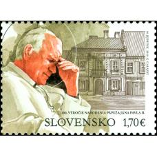 Známka - spoločné vydanie s Poľskom 100. výročie narodenia pápeža Jána Pavla II. (1920 – 2005)