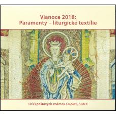 Známkový zošítok - Vianoce 2018: Paramenty – liturgické textílie