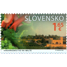 Známka - Spoločné vydanie s Maltou: Vinohradníctvo na Slovensku (2)