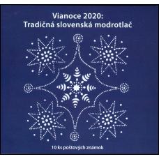 Známkový zošítok - Vianoce 2020: Tradičná slovenská modrotlač