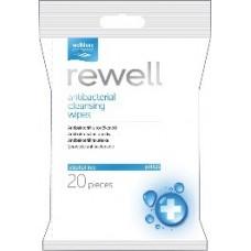 Rewell vlhčené obrúsky s antibakteriálnym a hydratačným účinkom 20ks