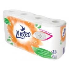 Toaletný papier Linteo, 8 kotúčov, biely, trojvrstvový