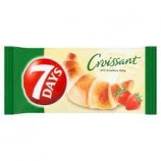 croissant s jahodovou náplňou