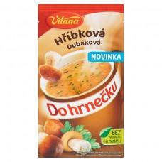 hubová polievka do hrnčeka