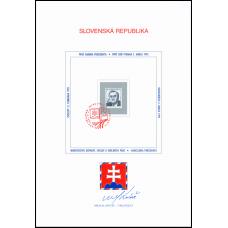 Nálepný list č. 4 - Inaugurácia prezidenta Slovenskej republiky