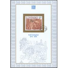Nálepný list č. 8 - Kráľ Svätopluk - 1100. výročie úmrtia