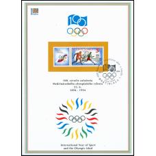 Nálepný list č. 7 - Olympijské hnutie