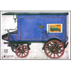 Nálepný list č. 100 - EUROPA 2013: Poštové vozidlo