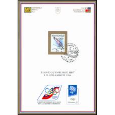 Nálepný list č. 6 - XVII. ZOH Lillehammer ´94